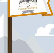 decoración Orange Televenta. Un proyecto de Ilustración, Br, ing e Identidad y Diseño gráfico de Claudia Aguado Vaquero         - 21.04.2014