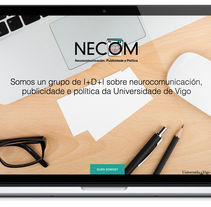 Web para el grupo NECOM. Um projeto de Web design e Desenvolvimento Web de Lúa Louro Glez         - 09.02.2014