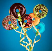Donuts - Retouching Time Lapse. Um projeto de Pós-produção de Laura Reyero         - 24.04.2014