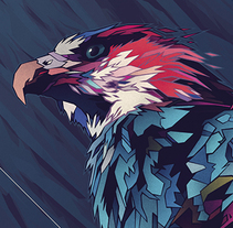 MADAGASCAR FISH EAGLE. A Illustration, and Graphic Design project by Dani Blázquez         - 25.04.2014