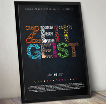Zeitgeist - Gráfica de Evento. A Illustration, and Graphic Design project by Alejandro Bernatzky         - 31.08.2011