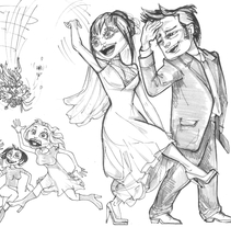 Ilustraciones para album de boda. A Illustration project by Dmitry Khomyakov         - 30.11.2012