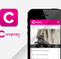 Congreso 2.0 iOS. A Br, ing, Identit, and UI / UX project by Alex R Chies - May 13 2014 12:00 AM
