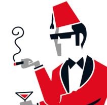 La Candela - Bar de copas. Un proyecto de Ilustración y Diseño gráfico de Alejandro Antoraz Alonso - 10-01-2011