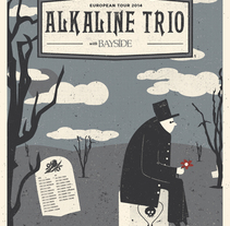 Alkaline Trio/Bayside poster de gira. A Design, Illustration, and Art Direction project by Münster Studio         - 15.05.2014