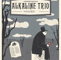 Alkaline Trio/Bayside poster de gira thumbnail
