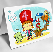 Ilustración para aniversario infantil. A Illustration, and Character Design project by Dues Creatius  - 22-05-2014