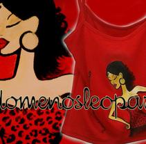 Camiseta todomenosleopardo red. Um projeto de Design de personagens de todomenosleopardo®         - 22.05.2014