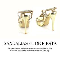 Campaña de Sandalias de Fiesta.. Um projeto de Design, Direção de arte e Moda de Eva Sevilla         - 28.05.2014