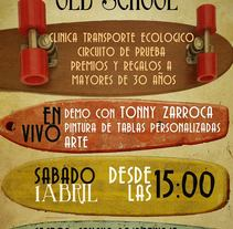 CLINICA LONGBOARD OLD SCHOOL / DESIGN. A Design, Advertising, Installations, Photograph, Graphic Design, and Post-Production project by Yasmin  carrasco becerra          - 06.03.2013