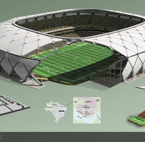ESTADIOS MUNDIALISTAS 2014. A Illustration, 3D, and Architecture project by Sebastian  Sempronii - 29-05-2014