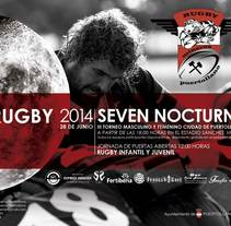 Cartel Rugby nocturno. A Design project by Montse M.M.         - 30.05.2014