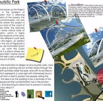 Eco-Touristic Park - Architecture. Un proyecto de Diseño y Arquitectura de Desiree Diaz Carrascoso         - 31.05.2014