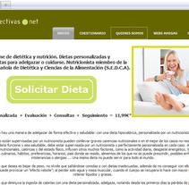 dietasefectivas.net. Um projeto de Web design e Desenvolvimento Web de Gema R. Yanguas Almazán         - 01.07.2010