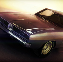 "Dogde Charger 1969. A 3D, Art Direction, Automotive Design, and Post-Production project by Alfredo Gutierrez Moreno ""Fredo""         - 03.06.2014"