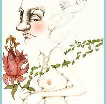 dibujo en tecnica mixta. A Illustration project by Lidón Ramos         - 04.01.2015