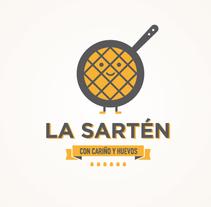 """La Sartén """"Con cariño y huevos"""". A Br, ing, Identit, Design&Illustration project by Raúl Gómez estudio - Jul 02 2014 12:00 AM"""