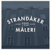 Logo para Strandåker Måleri. Un proyecto de Br e ing e Identidad de Hector Romo         - 25.06.2014
