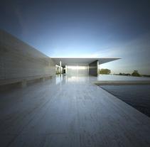 3D RENDER | Pabellón de Van Der Rohe. Um projeto de Fotografia, 3D e Arquitetura de MNOstudios         - 02.07.2014