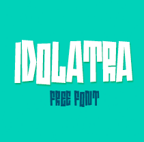 Idolatra font. A T, and pograph project by Felipe Moreno - 07.06.2014
