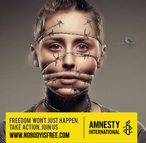 Amnesty International. A Advertising, and Art Direction project by Christian Alberto Rivera Rojas         - 12.06.2014