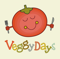 Character for a vegan food brand: Veggy Days. A Illustration, Br, ing, Identit, and Graphic Design project by Laura Liberal         - 23.07.2014
