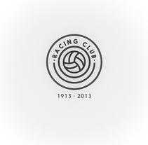 Rediseño del escudo del Racing Club de Santander. A Design, Br, ing&Identit project by rafa san emeterio  - 18-08-2014