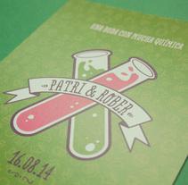 Una boda con mucha química. Um projeto de Ilustração, Eventos e Design gráfico de Eneri Mateos         - 15.08.2014