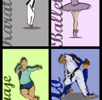 Deportes ilustrados. Un proyecto de Diseño e Ilustración de Ana Mouriño - 25-08-2014
