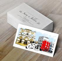 """Invitación de Boda """"Sara y Julien"""". Un proyecto de Diseño gráfico y Serigrafía de Paolo Ocaña         - 28.08.2014"""