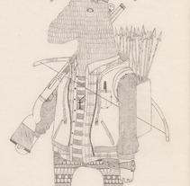 """""""EL CAZADOR CAZADO"""".. A Illustration project by Álvaro Parra Romo         - 04.09.2014"""