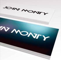 DJ Joan Monty Logo. Un proyecto de Diseño y Diseño gráfico de ERBA         - 17.09.2014
