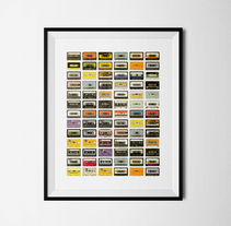 Lámina Cassettes. Un proyecto de Diseño gráfico de Alejandro  - Jueves, 18 de septiembre de 2014 00:00:00 +0200