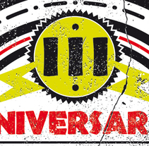 III ANIVERSARIO ROCK CITY | poster + pantallas + pase. Un proyecto de Diseño, Ilustración, Publicidad, Dirección de arte y Diseño gráfico de alejandro escrich - 23-09-2014