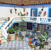 Andalusian-mediterranean courtyard // Patio andaluz-mediterráneo. Un proyecto de Motion Graphics, 3D y Arquitectura de Fran Alburquerque         - 24.06.2014