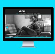 Melendi Web Oficial. Um projeto de Web design de Porelamordedios - 26-09-2014