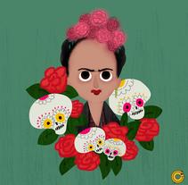 Frida Kahlo. Um projeto de Design, Ilustração e Design de personagens de Victor  Nariño         - 05.10.2014