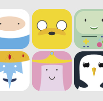 Adventure Time MacOSX icons. A Illustration, and Graphic Design project by Jaume Estruch Navas - 10-08-2014