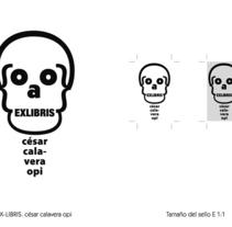 Sello Ex libri. Un proyecto de Diseño gráfico de César Calavera Opi - 21-10-2014