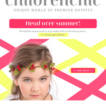 Template Email Blast: CHILDRENCHIC. A Design, Art Direction, Br, ing&Identit project by Beatriz Menéndez López - Nov 03 2014 12:00 AM