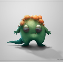 Bumpy monster + Video process. A Film, Video, TV, Character Design, and Comic project by Daniel Catalina - 30-11-2014