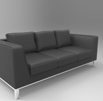 3d Sofa. A Design, 3D, Furniture Design, Interior Design, and Product Design project by Hayk Gasparyan - 13-12-2014