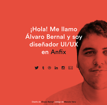 Webpage personal. A UI / UX, and Web Design project by Álvaro Bernal Nicolás - 21-12-2014
