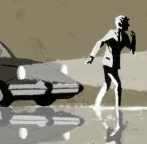 La Caída de la Casa Usher (Mi proyecto para el curso Ilustración, nudo y desenlace). A Illustration, Architecture, Fine Art, and Comic project by José Luis Ágreda         - 29.12.2014