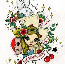 Alice and Wonderland. Un proyecto de Ilustración, Diseño editorial, Bellas Artes y Serigrafía de Laura Cortés         - 17.01.2015