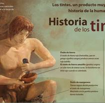 Infografía: Historia de los tintes. A Graphic Design, Sculpture&Infographics project by Mercedes Méndez - 20-01-2015
