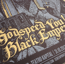 GODSPEED YOU! BLACK EMPEROR. A Graphic Design, Illustration, and Screen-printing project by Error! Design (Xavi Forné) - Jan 27 2015 12:00 AM