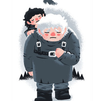 Hodor. A Illustration project by Luis Domínguez         - 05.02.2015