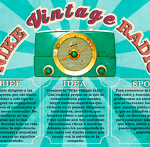 Nike Vintage Radio. A Design, Art Direction, Cop, and writing project by Sara González García - 08-02-2015