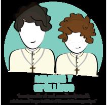 recordatorio comunión. Un proyecto de Diseño, Ilustración y Diseño gráfico de Estela Pedrero         - 12.04.2014
